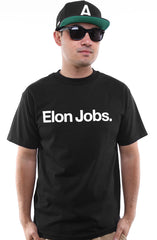 Elon Jobs (Men's Black Tee)