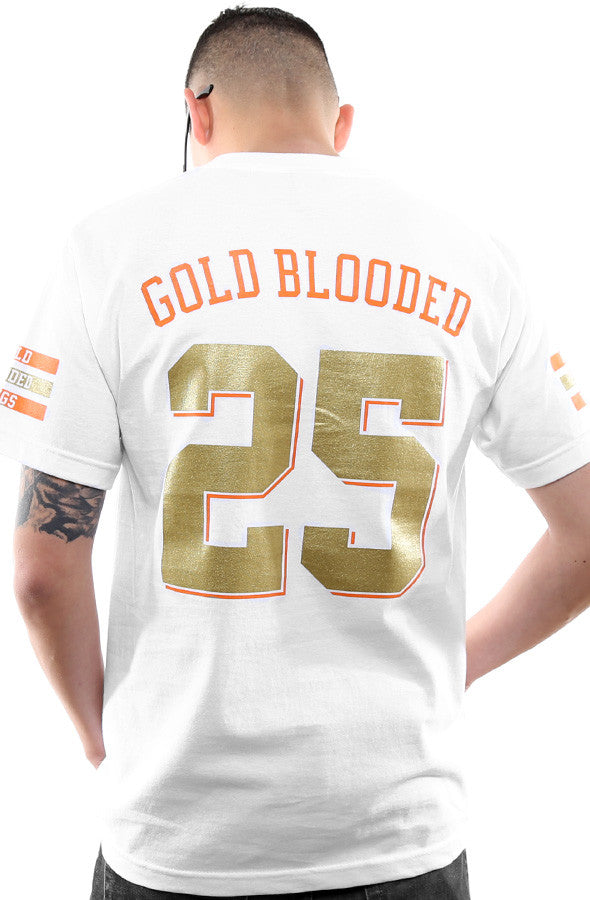 Gold Blooded Kings :: 25 (Men's White Tee)