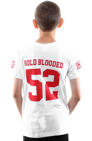 Gold Blooded Legends :: 52 (Youth Unisex White Tee)