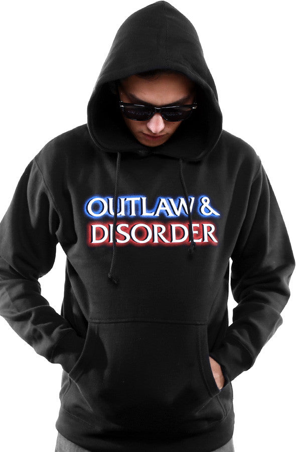 Outlaw & Disorder (Men's Black Hoody)