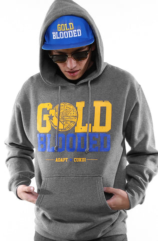 Cukui X Adapt :: Gold Blooded Tribal (Men's Gunmetal/Royal Hoody)