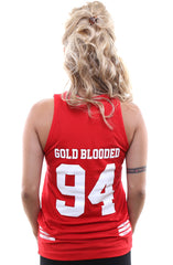 Gold Blooded Legends :: 94 (Women's Red Tank Top)