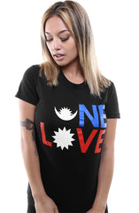 One Love :: Nepal Earthquake Relief (Women's Black Tee)
