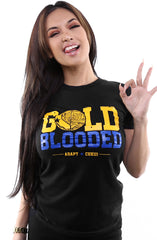 Cukui X Adapt :: Gold Blooded Tribal (Women's Black/Royal Tee)