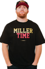Bruce Miller X Adapt :: Miller Time (Men's Black Tee)