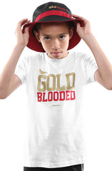 Gold Blooded (Youth Unisex White Tee)