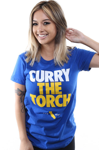 LAST CALL - Curry The Torch (Women's Royal Tee)