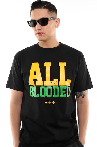 All Blooded (Men's Black/Green Tee)