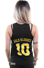 Gold Blooded Royalty :: 10 (Women's Black Tank Top)