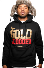 Gold Blooded (Men's Black/Gold Hoody)