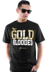 GOLD BLOODED Men's Black/White/Gold Tee