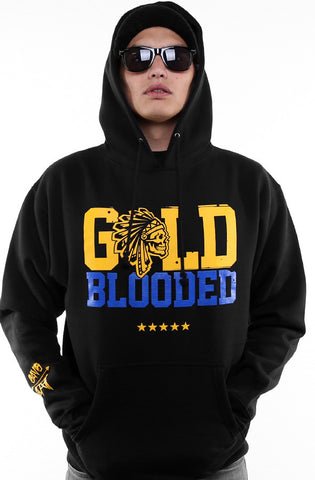 SAVS X Adapt :: Gold Blooded Chiefs (Men's Black/Royal Hoody)