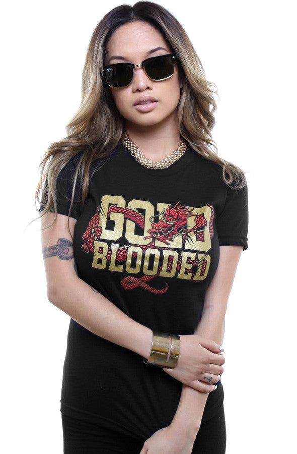 GOLD BLOODED :: CNY Edition (Women's Black/Gold Tee)