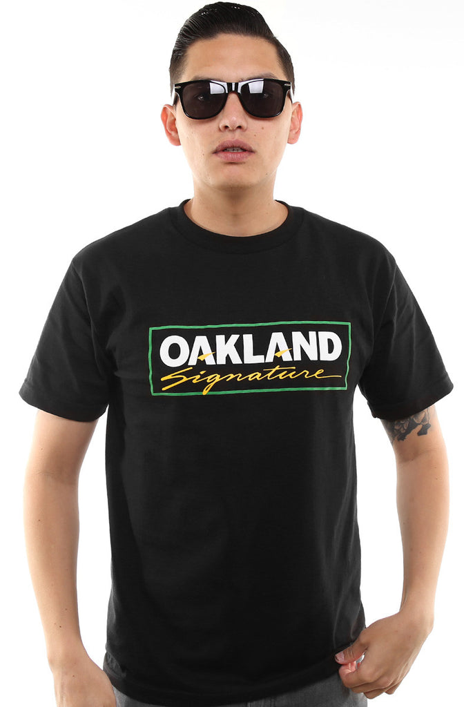 Oakland Signature (Men's Black/Green Tee)