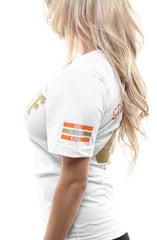 Gold Blooded Kings :: 40 (Women's White V-Neck)