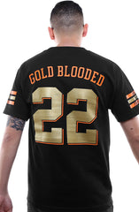Gold Blooded Kings :: 22 (Men's Black Tee)