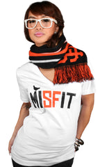 Misfit (Women's White/Orange V-Neck)