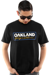 Oakland Signature (Men's Black/Royal Tee)