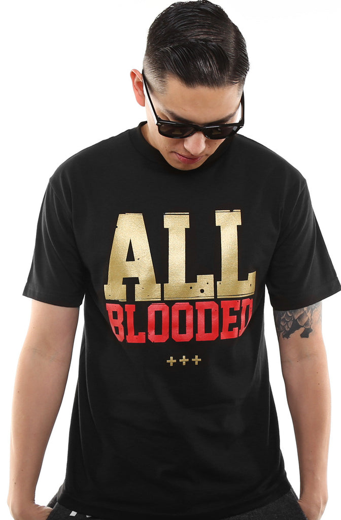 All Blooded (Men's Black/Red Tee)