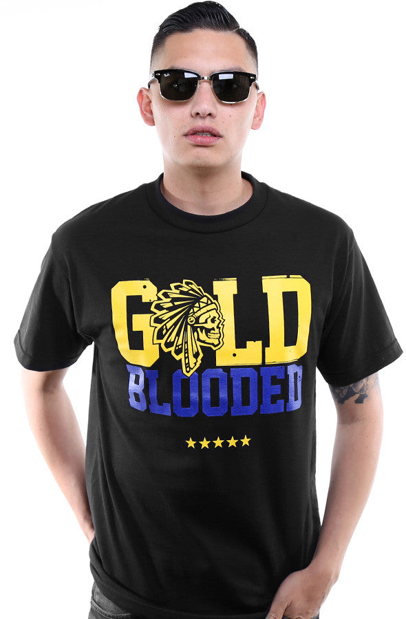 SAVS x Adapt :: Gold Blooded Chiefs (Men's Black/Royal Tee)