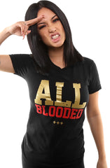 All Blooded (Women's Black/Red Tee)