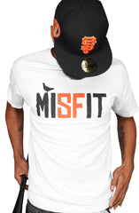 Misfit (Men's White/Orange Tee)