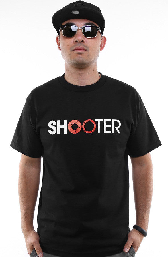 Satostudios x Adapt :: Shooter (Men's Black/Red Tee)
