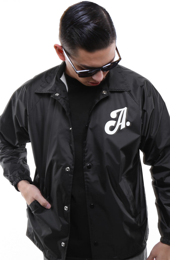 Home Team (Men's Black Nylon Coach Jacket)