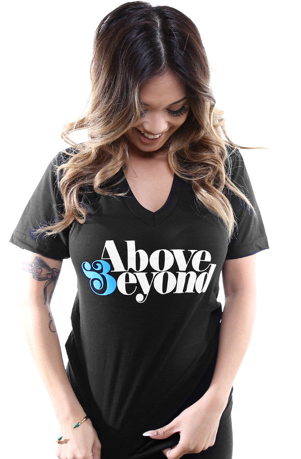 Above & Beyond (Women's Black V-Neck)