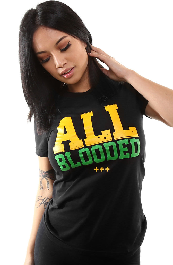 All Blooded (Women's Black/Green Tee)
