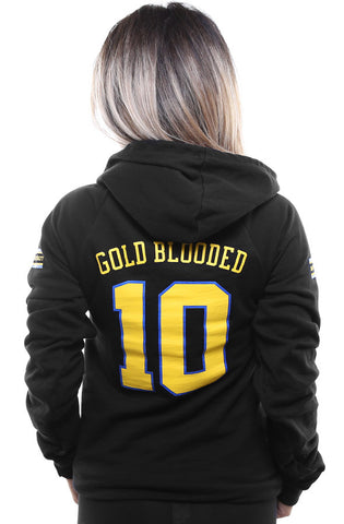 Gold Blooded Royalty :: 10 (Women's Black Hoody)