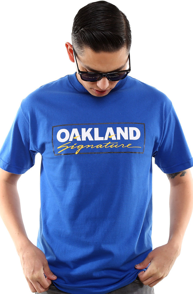 Oakland Signature (Men's Royal Tee)