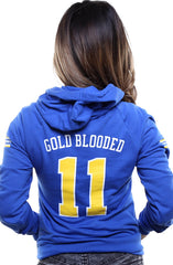 Gold Blooded Royalty :: 11 (Women's Royal Hoody)