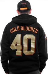 Gold Blooded Kings :: 40 (Men's Black Hoody)