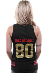 Gold Blooded Legends :: 80 (Women's Black/Gold Tank Top)