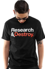 Research & Destroy (Men's Black/Red Tee)