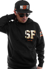 Gold Blooded Kings :: 22 (Men's Black Hoody)