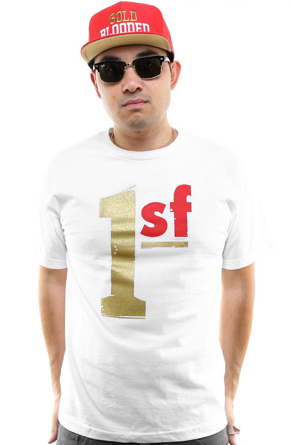 One SF (Men's White/Gold Tee)