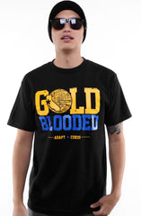 Cukui x Adapt :: Gold Blooded Tribal (Men's Black/Royal Tee)
