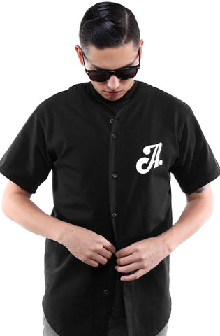 Home Team (Men's Black Baseball Jersey)