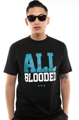 All Blooded (Men's Black/Teal Tee)