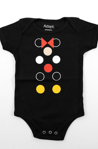 Dottie Matrix (Baby Black Onesie)