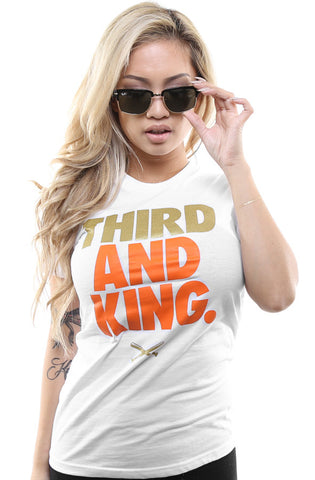 Third and King (Women's White Tee)