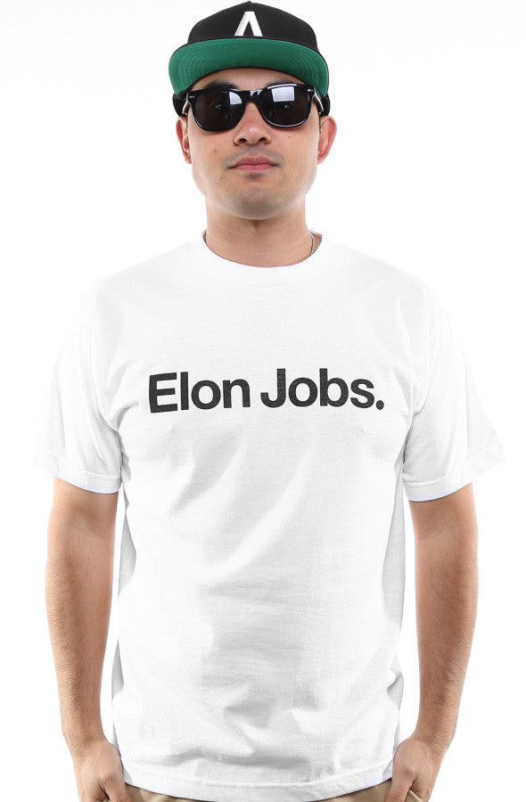 Elon Jobs (Men's White Tee)