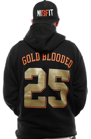 Gold Blooded Kings :: 25 (Men's Black Hoody)