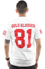 Gold Blooded Legends :: 81 (Men's White Tee)