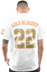 Gold Blooded Kings :: 22 (Men's White Tee)