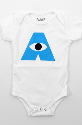 Monsters (Baby White Onesie)