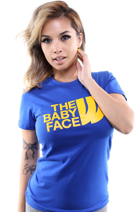 The Baby Face (Women's Royal Tee)