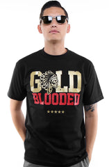SAVS x Adapt :: Gold Blooded Chiefs (Men's Black/Red Tee)